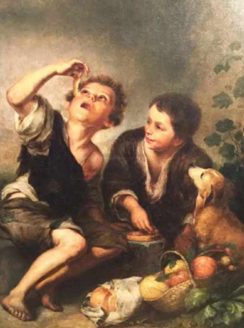 the pie eaters after bartolome esteban murillo 16171682 european school oil portrait painting antique art